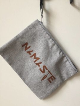 Miss Milla NAMASTE pencilcase/make-up bag heather grey
