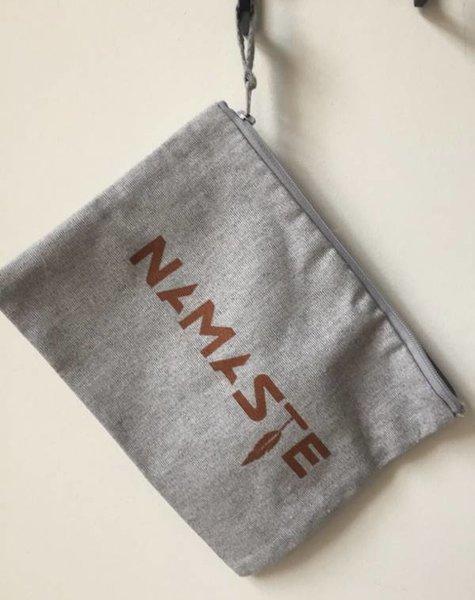 Miss Milla NAMASTE  pencilcase/make-up bag  heather grey