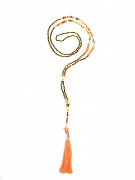 Necklace The tiny long necklace orange