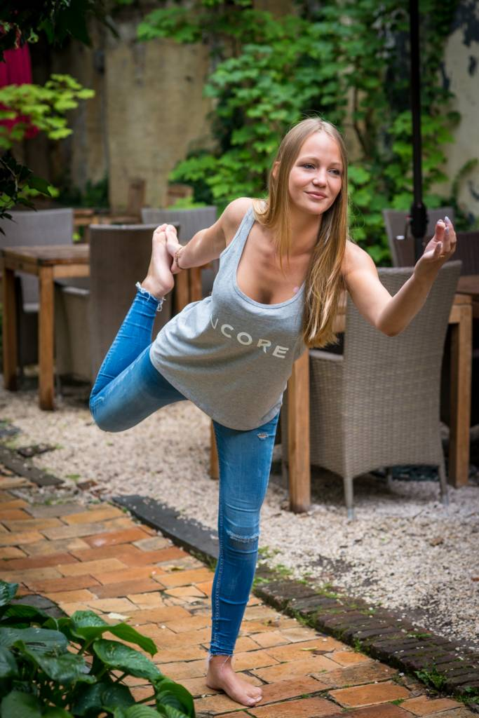 Miss Milla YOGA ROCKS  tank top grey
