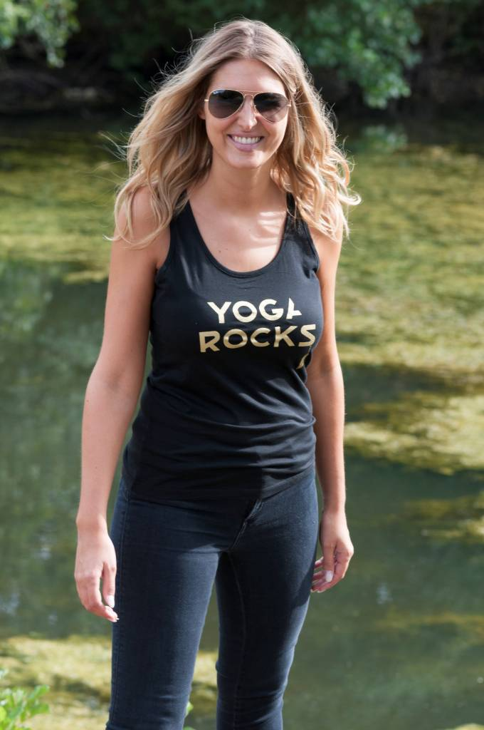 Miss Milla YOGA ROCKS  tank top black