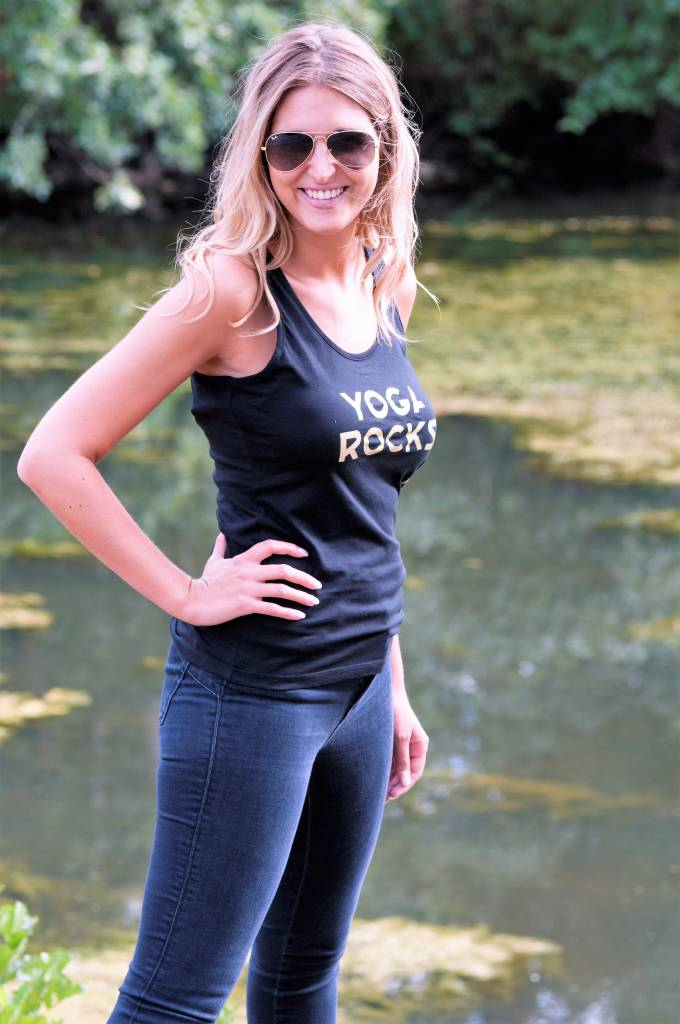 Miss Milla YOGA ROCKS  tank top zwart