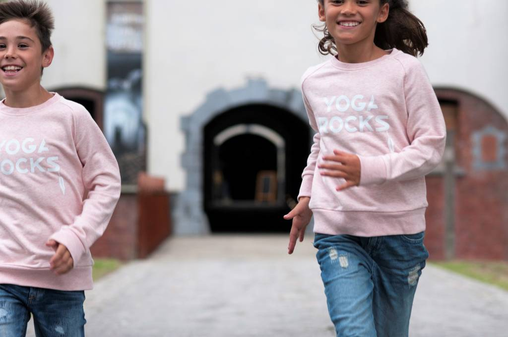 Miss Milla YOGA ROCKS  KIDS sweater heather pink