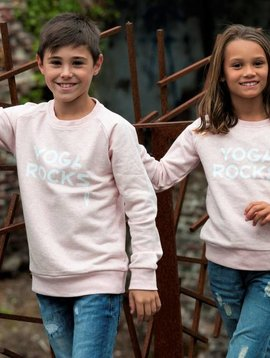 Miss Milla YOGA ROCKS  KIDS sweater heather pink