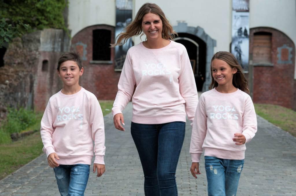Miss Milla YOGA ROCKS  sweater heather pink