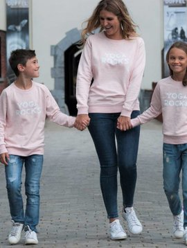Miss Milla YOGA ROCKS  sweater heather pink
