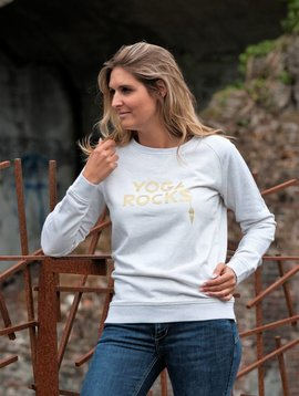 Miss Milla YOGA ROCKS  sweater cream heather grey