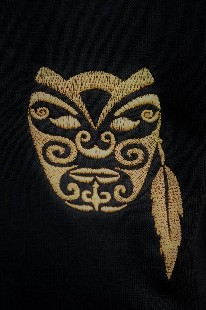 Miss Milla WARRIOR sweater unisex zwart gebrodeerde Warrior Ltd edition