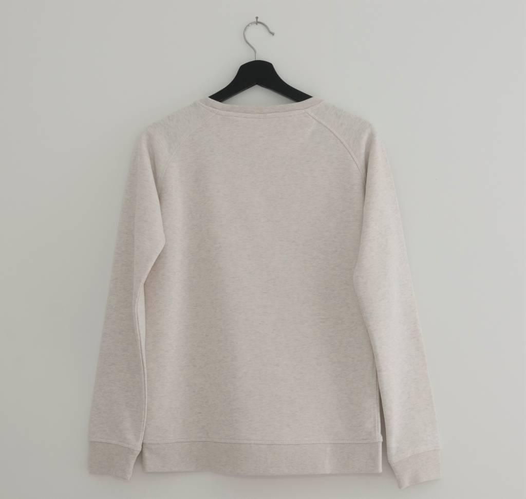 Miss Milla YOGA ROCKS  sweater cream heather grey