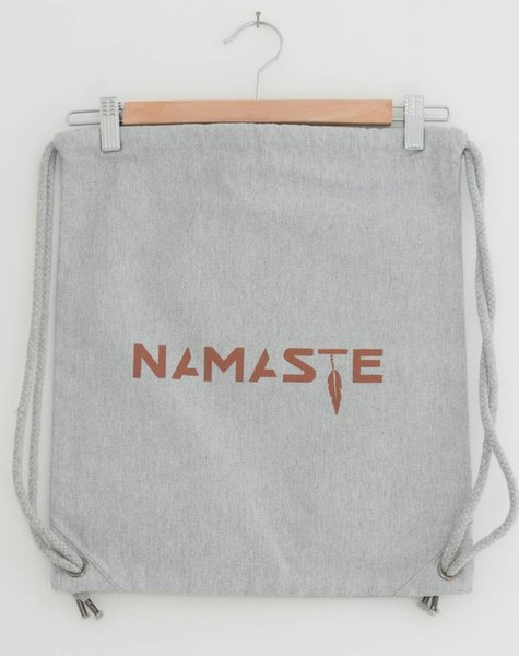 Miss Milla NAMASTE gymbag/bagpack heather grey coton