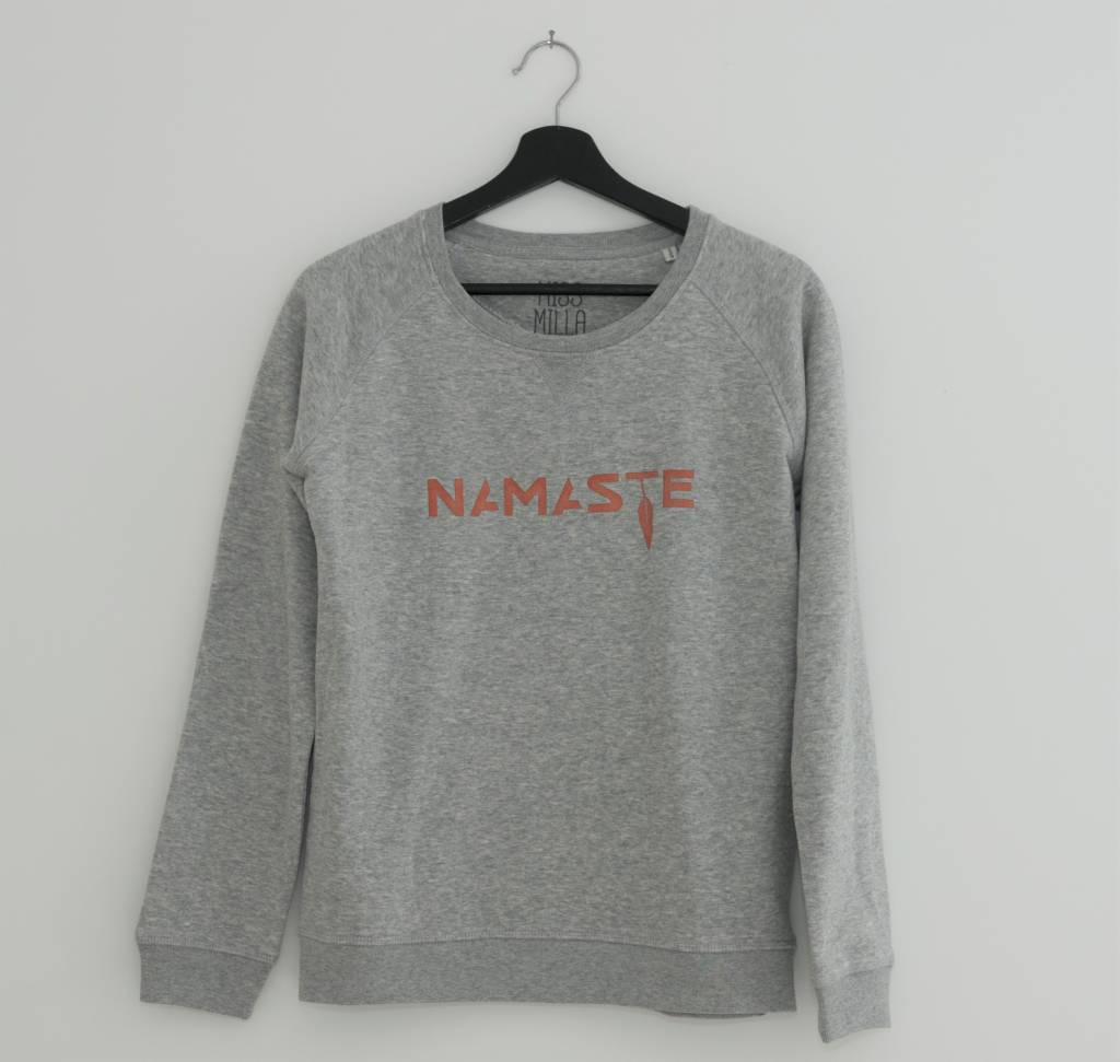 Miss Milla NAMASTE sweater grijs