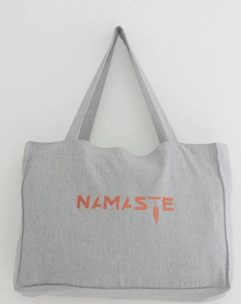 Miss Milla NAMASTE shopping/yogabag grijs