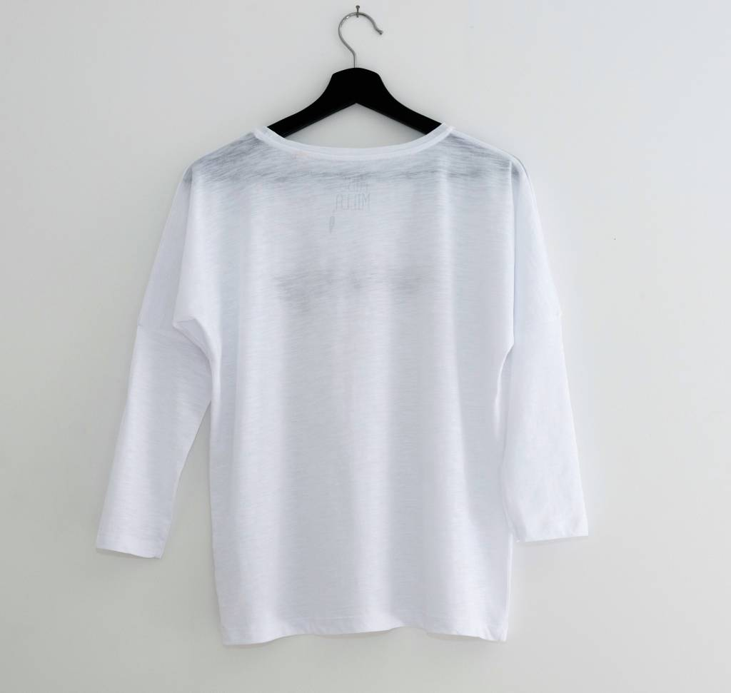 Miss Milla NAMASTE tshirt halflange mouw wit