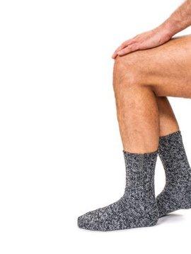 Soxs Wool sock men dark grey medium titanium label