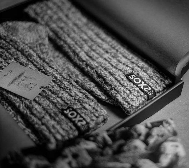 Soxs Wool sock woman darkgrey medium high Confetti label size 37-41