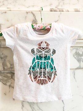 T-shirt gray beetle zebra print