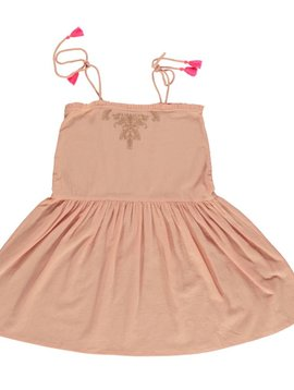 Dress midlong Cactus color nude