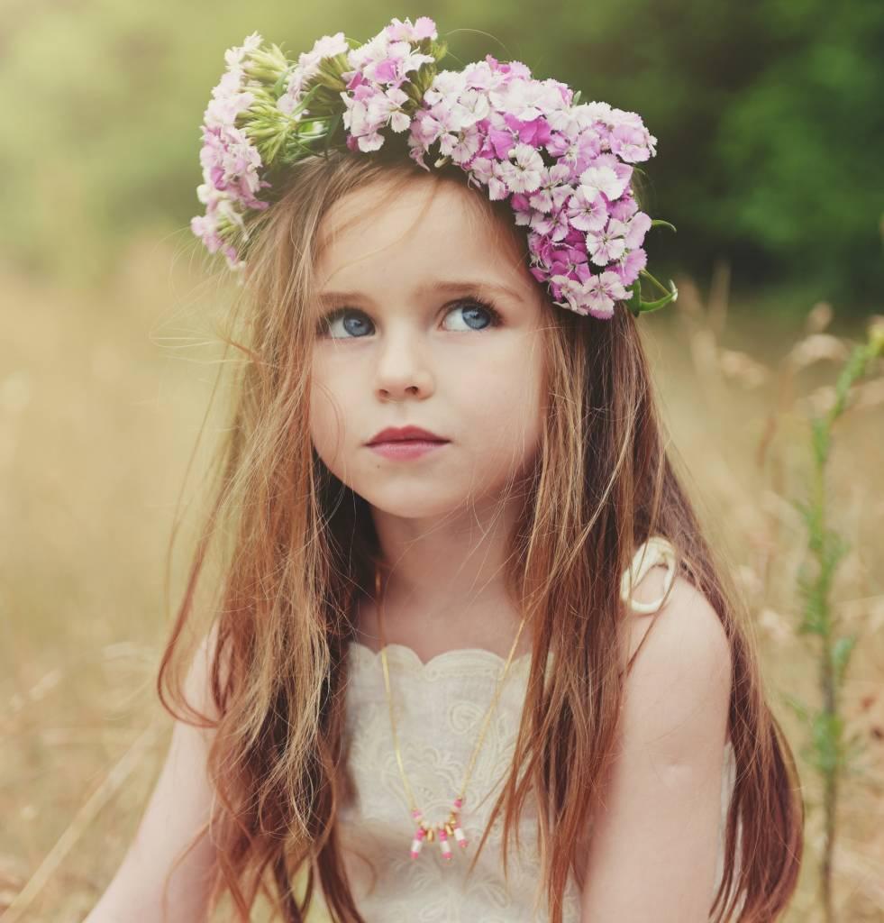 Ketting Inca roze kid
