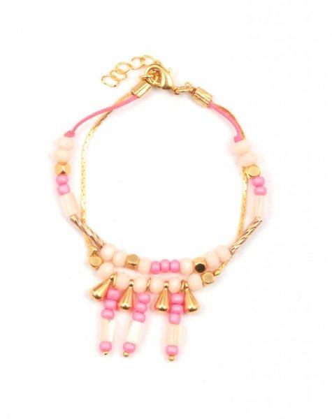 Armband Inca roze