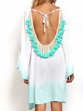 Indiana Ombre short White/Turquoise