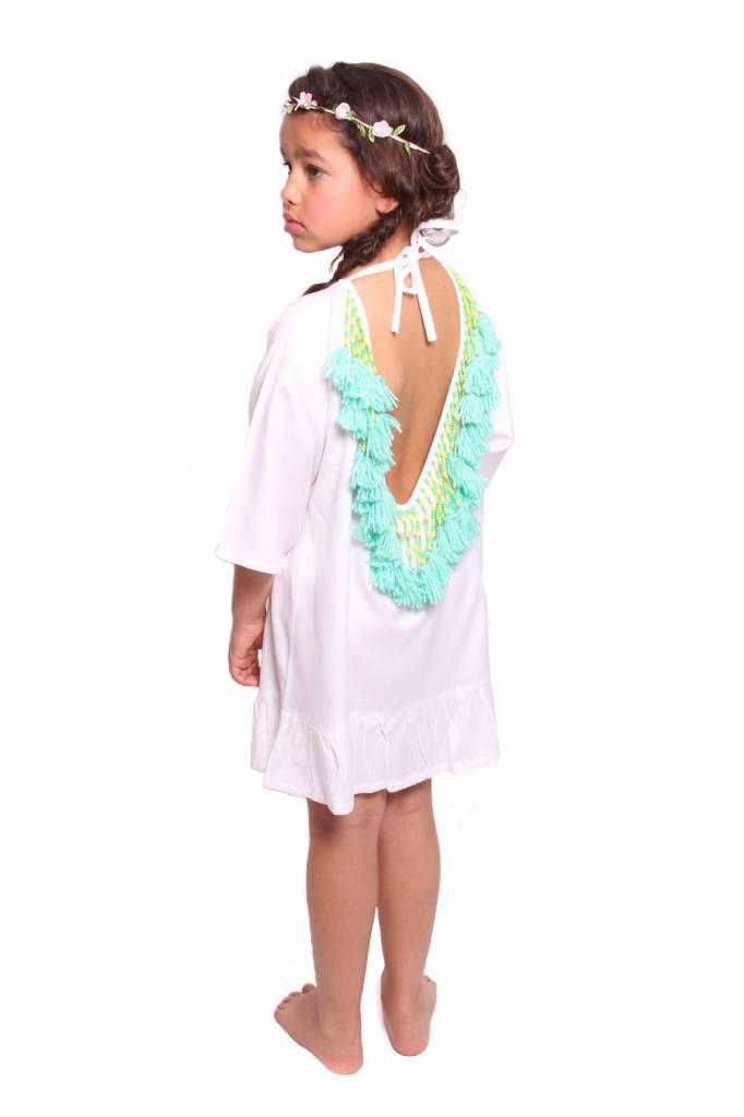 Alaia baby White / Turquoise