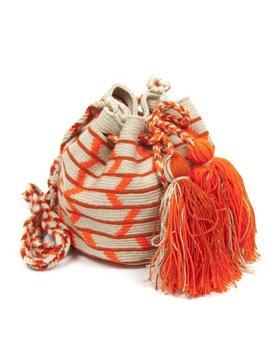 Sac Wayuu M d'orange