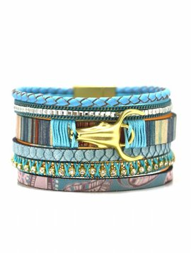 Full leather bracelet 5 rows