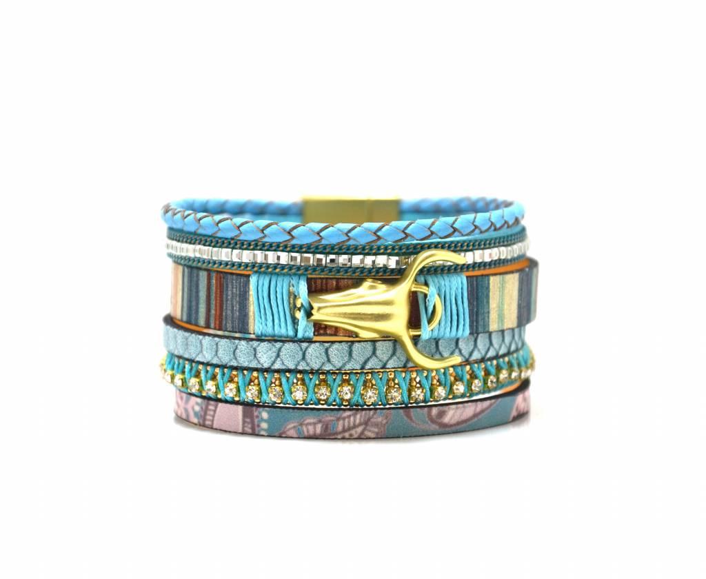 Full leather bracelet 5 rows