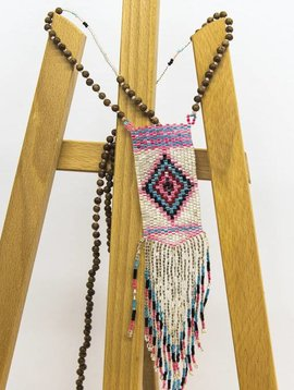 Halsketting The pendant necklace beige/roze