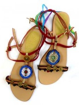 sandalen/teenslippers bordeaux/rood maat 40