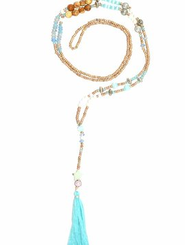 Halsketting The tiny long necklace turquoise