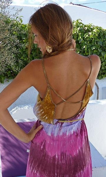 Lange jurk multicolor batik