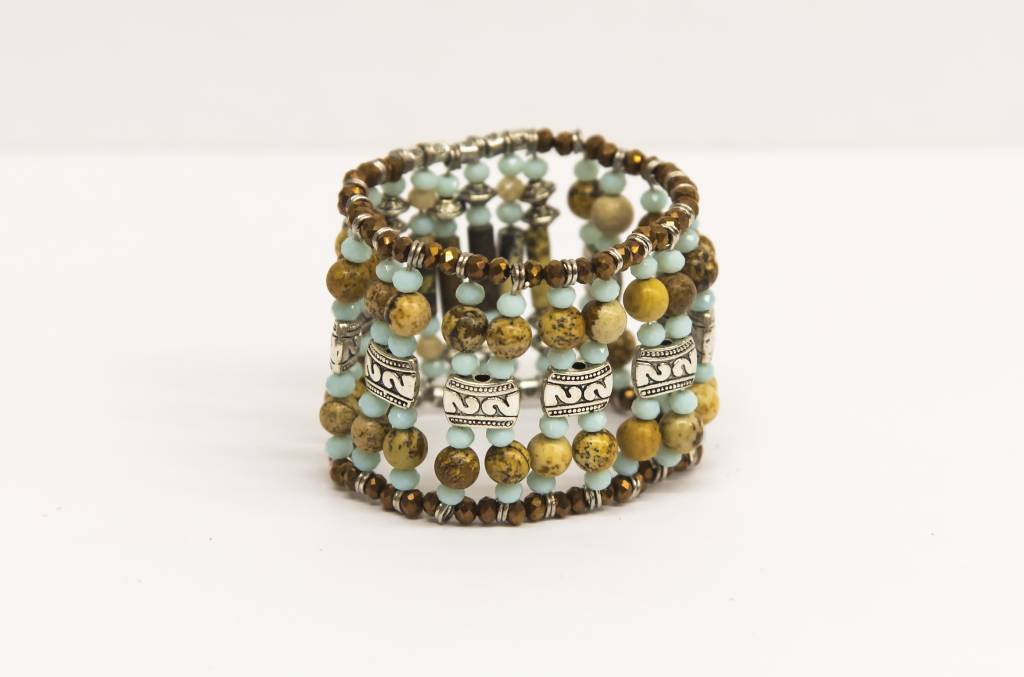 The gipsy crystal bracelet turquoise
