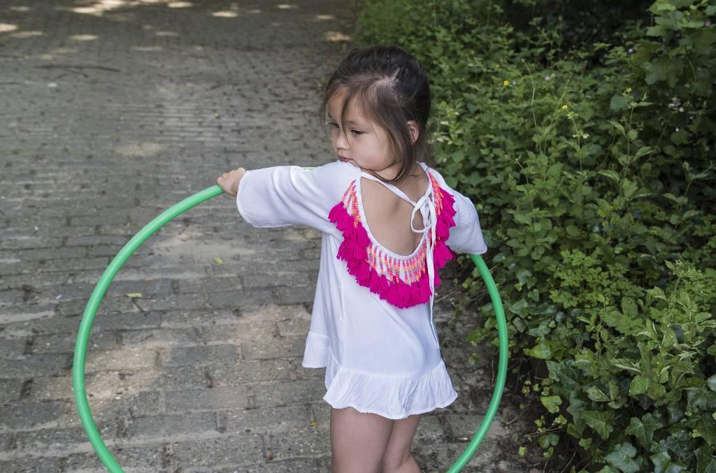 Alaia baby Wit / roze