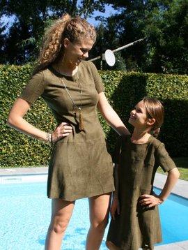 Robe armée en daim enfants: 2 DERNIERES PIECES