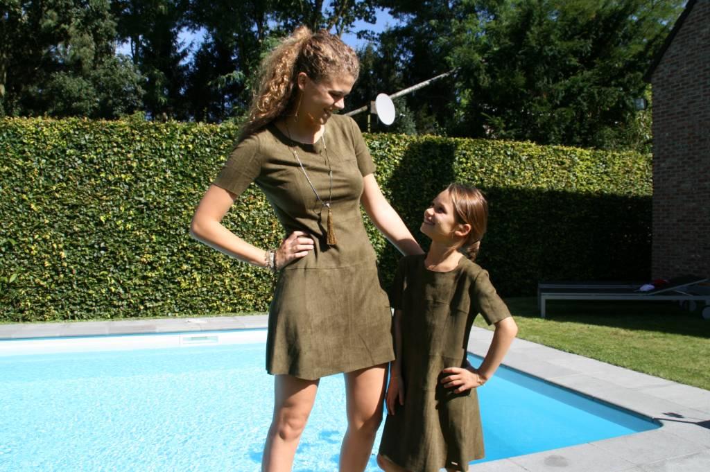 Dress suede army kids