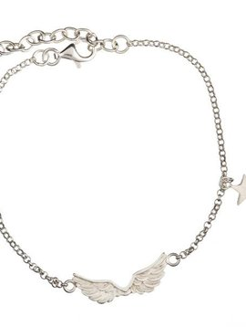 Short wings bracelet en argent