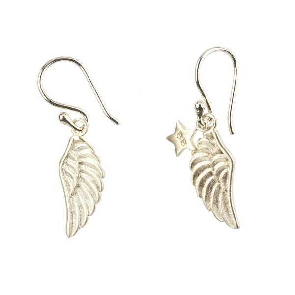 oorbel wings (vleugels) zilver