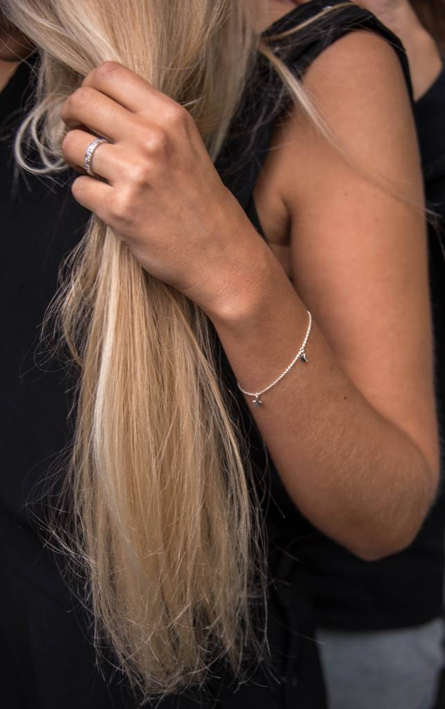 Twinkle chain armband MUM zilver