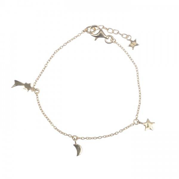 Twinkle chain bracelet plated gold KID