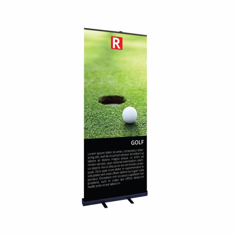 Roll up banner noir bon marché