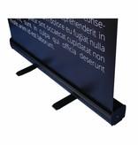 Goedkope roll up zwart banner bestellen