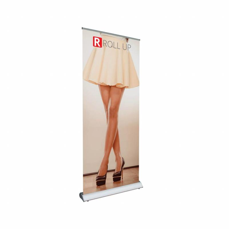 Ordinate un banner roll up deluxe ricco di stile.