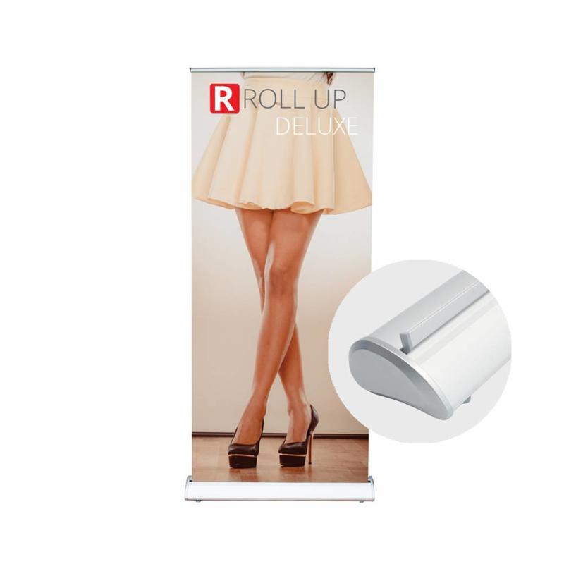 Stijlvolle roll up deluxe banner bestellen.