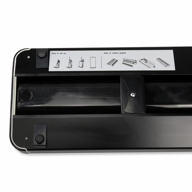 Roll up superieur zwart cassette