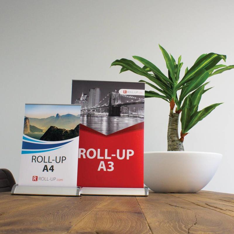 Il roll up mini è l'ideale per attirare l'attenzione su piccola scala.