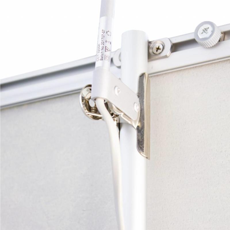 Roll up LED spotlight silver, clip