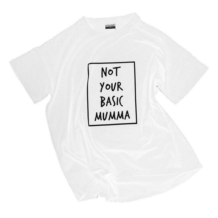 Cribstar T-shirt Not Your Basic Mumma - wit-1