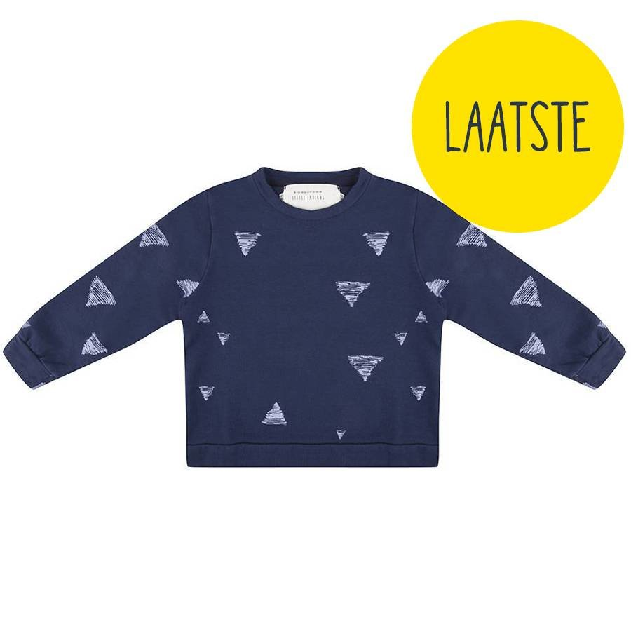 Little Indians Triangle Sweater Blauw-1