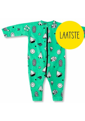 Pyjamasuit Diamonds mintgroen